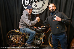 The Abnormal Cycles booth during Motor Bike Expo. Verona, Italy. January 23, 2016.  Photography ©2016 Michael Lichter.