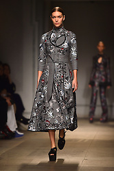 Model Arizona Muse on the catwalk during the Erdem Autumn/Winter 2017 London Fashion Week show at the Old Selfridge's Hotel, London.PRESS ASSOCIATION Photo. Picture date: Monday February 20th, 2017. Photo credit should read: Matt Crossick/PA Wire.