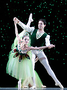 GASTON DE CARDENAS/EL NUEVO HERALD -- MIAMI -- Mary Carmen Catoya and Carlos Guerra dancers from the Miami City Ballet during a rehearsal of Emeralds part of the Ballet Jewels.