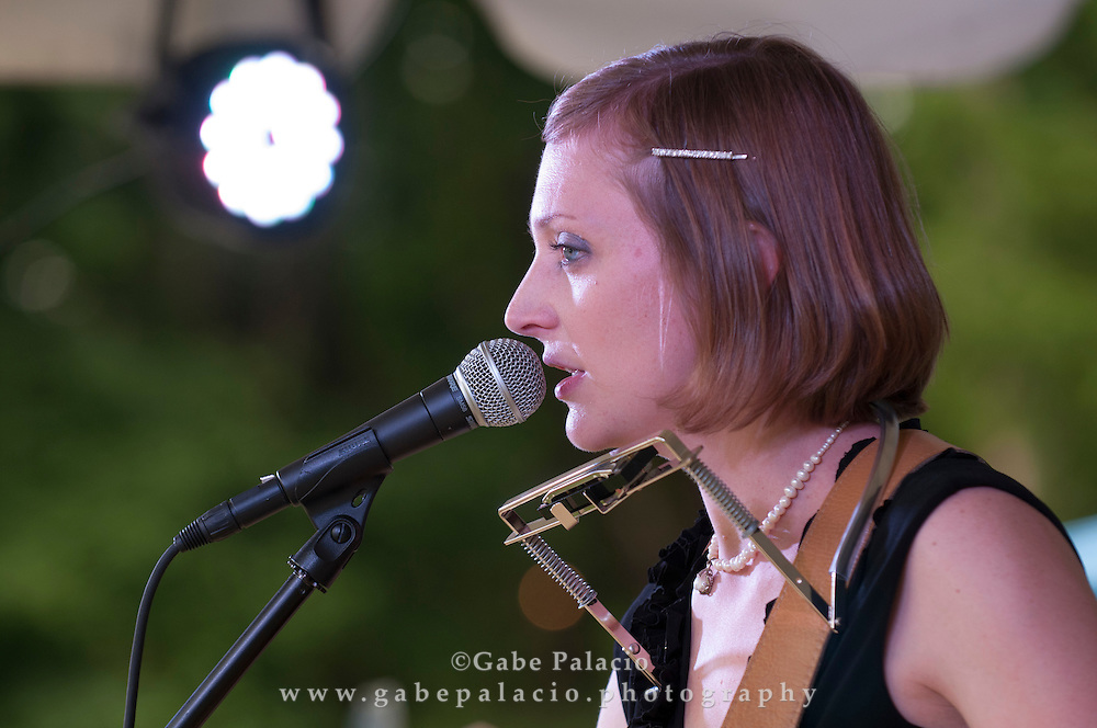 Eilen Jewell performing at the American Roots Music Festival at Caramoor in Katonah New York..photo by Gabe Palacio