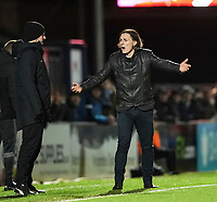 Wycombe Wanderers manager Gareth Ainsworth remonstrates with the fourth official<br /> <br /> Photographer Lee Parker/CameraSport<br /> <br /> The EFL Sky Bet League One - Wycombe Wanderers v Blackpool - Tuesday 28th January 2020 - Adams Park - Wycombe<br /> <br /> World Copyright © 2020 CameraSport. All rights reserved. 43 Linden Ave. Countesthorpe. Leicester. England. LE8 5PG - Tel: +44 (0) 116 277 4147 - admin@camerasport.com - www.camerasport.com