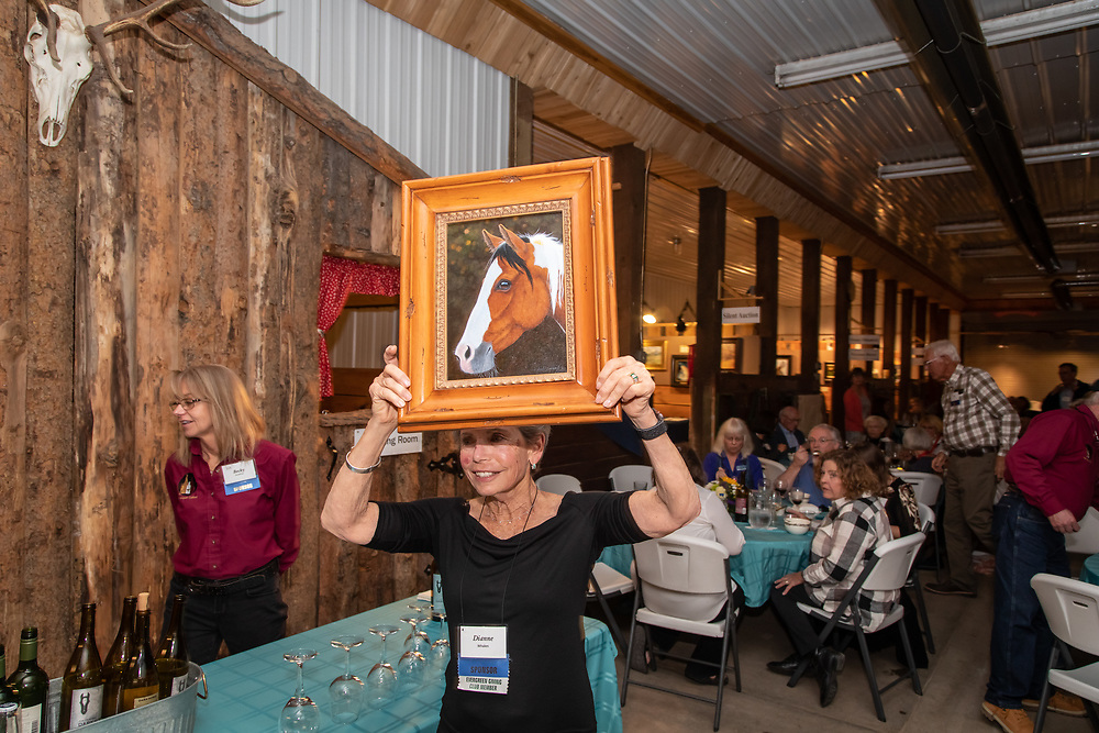Sponsors and artists gather for a VIP dinner on the evening before Art for the Sangres, a key fundraiser art sale for the San Isabel Land Protection Trust.