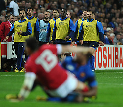 French replacements watch the action  - Mandatory byline: Joe Meredith/JMP - 07966386802 - 01/10/2015 - Rugby Union, World Cup - Stadium:MK -Milton Keynes,England - France v Canada - Rugby World Cup 2015