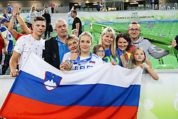 Anita Sobocan of Slovenia with family after the volleyball match between National team of Turkey and Slovenia in Gold Medal game of Womens U23 World Championship 2017, on September 17, 2017 in SRC Stozice, Ljubljana, Slovenia. Photo by Morgan Kristan / Sportida