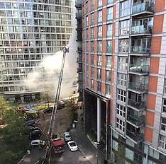Major incident Flats ablaze