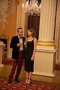 JEM SANDFORD; SARAH DOORLEY, The National Trust for Scotland Mansion House Dinner. Mansion House, London. 16 October 2013