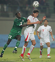 v.l. James Chamanga, Karim Haggui Tunesien<br />
