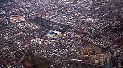 General view of Chelsea's Stamford Bridge ground from the air