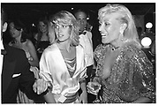 Arabella Pollen ( now Macmillan)  and Angie Best. Berkeley Square Ball. 16 July 1984.  SUPPLIED FOR ONE-TIME USE ONLY> DO NOT ARCHIVE. © Copyright Photograph by Dafydd Jones 66 Stockwell Park Rd. London SW9 0DA Tel 020 7733 0108 www.dafjones.com