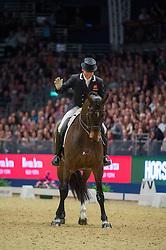 Hester Carl, (GBR), Nip Tuck<br /> Grand Prix Freestyle <br /> Reem Acra FEI World Cup Dressage <br /> London International Horse Show<br /> © Hippo Foto - Jon Stroud