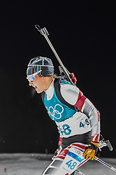 February 12, 2018 - Pyeongchang, Gangwon, South Korea - Dunja Zdouc of Austria  competing at Women's 10km Pursuit, Biathlon, at olympics at Alpensia biathlon stadium, Pyeongchang, South Korea. on February 12, 2018. (Credit Image: © Ulrik Pedersen/NurPhoto via ZUMA Press)