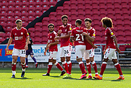 GOAL 1-0 Bristol City players celebrate scoring their first goal during the EFL Cup match between Bristol City and Exeter City at Ashton Gate, Bristol, England on 5 September 2020.