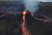 Iceland volcano eruption of Mount Fagradalsfjall, Iceland.
