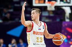 Dmitry Khvostov of Russia during basketball match between National Teams of Russia and Serbia at Day 16 in Semifinal of the FIBA EuroBasket 2017 at Sinan Erdem Dome in Istanbul, Turkey on September 15, 2017. Photo by Vid Ponikvar / Sportida