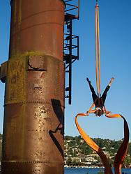 United States, Wasington, Seattle, Gas Works Park, aerialist