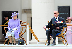 File photo dated 28/06/14 of Queen Elizabeth II and the Duke of Edinburgh attending a Drumhead Service of Remembrance led by the Bishop of London at Royal Hospital Chelsea, London. The couple had a strong bond but were different in character and the Duke of Edinburgh never shied away from telling his wife exactly what was what. Issue date: Friday April 9, 2021.