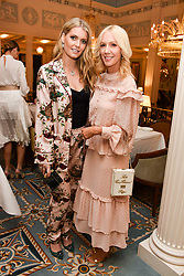 Left to right, Lady Kitty Spencer and Megan Hess at an afternoon tea in honour of Megan Hess hosted by Lady Violet Manners at The Lanesborough, Hyde Park Corner, London, England. 10 November 2017.