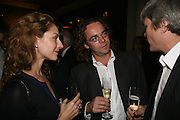 Elizabeth Sheinkman and Jamie Byng, A A Gill party to celebrate the  publication of Table Talk, a collection of his reviews. Hosted by Marco Pierre White at <br />Luciano, 72 St James's Street, London,. 22 October 2007, -DO NOT ARCHIVE-© Copyright Photograph by Dafydd Jones. 248 Clapham Rd. London SW9 0PZ. Tel 0207 820 0771. www.dafjones.com.