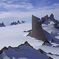 Antarctica, Queen Maud Land.  Fenris Mountains and Fenris Tongue Glacier.