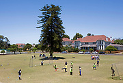 "Blind Children practise football and learn new skills from coaches, in Cape town, South Africa, through the charity ""Coaching for Hope"". Both Hope Powell and DJ Fatboy Slim work with the charity, whose innovative programme, uses football to create better futures for young people in West and Southern Africa."