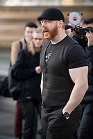 Sheamus at trafalgar square stop as  WWE Stars tour London  in an open-top bus   promotie the WWE's move to BT Sport, and