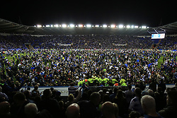 16 May 2017 - Sky Bet Championship - Play-off 2nd Leg - Reading v Fulham - Fans invade the pitch at Madejski Stadium - Photo: Marc Atkins / Offside.