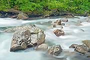 Early summer surge, Sauk River, Washington State