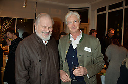 Left to right, SIR PHILIP BECK and PRINCE NICHOLAS VON PREUSSEN at an exhibition of works by Beatrice von Preussen held at The Gallery on The Corner, 155 Battersea Park Road, London SW8 on 11th December 2013.
