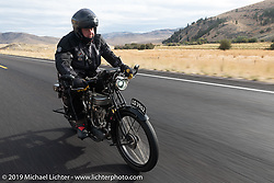 Richard Asprey riding his 1915 Norton in the Motorcycle Cannonball coast to coast vintage run. Stage 13 (254 miles) Kalispell, MT to Spokane, WA. Friday September 21, 2018. Photography ©2018 Michael Lichter.