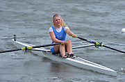 Reading. United Kingdom. Women's Single Sculls A/B Semi Finals,  Jessica LEYDEN, warming down. 2014 Senior GB Rowing Trails, Redgrave and Pinsent Rowing Lake. Caversham.<br /> <br /> 14:11:23  Saturday  19/04/2014<br /> <br />  [Mandatory Credit: Peter Spurrier/Intersport<br /> Images]