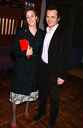 ALICE ELLIOT niece of Camilla Parker Bowles and her husband LUKE IRWIN at a party to celebrate the publication of 'E is for Eating' by Tom Parker Bowles held at Kensington Place, 201 Kensington Church Street, London W8 on 3rd November 2004.<br /><br />NON EXCLUSIVE - WORLD RIGHTS