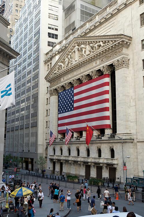 UNITED STATES-NEW YORK-New York Stock exchange on Wall Street. PHOTO: GERRIT DE HEUS.VERENIGDE STATEN-NEW YORK. New York Stock exchange op Wall Street met het standbeeld van George Washington ervoor. PHOTO COPYRIGHT GERRIT DE HEUS