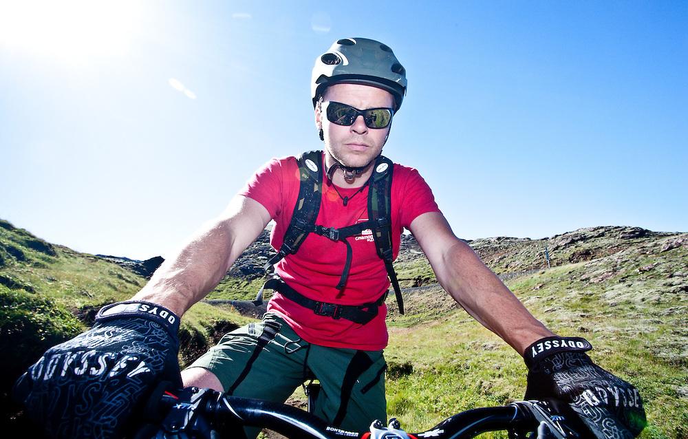 Self portrait on a mountain bike