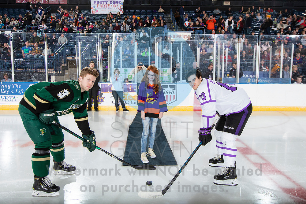 The Youngstown Phantoms defeat the Sioux City Musketeers 4-3 in overtime at the Covelli Centre on January 5, 2019.<br /> <br /> Craig Needham, forward, 13