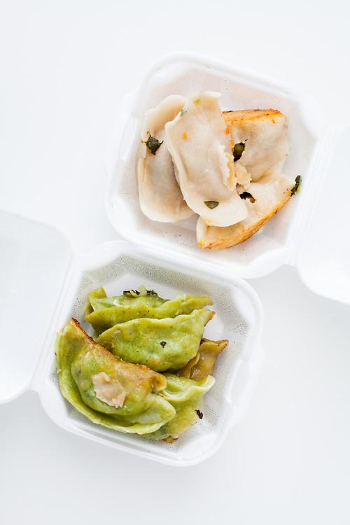 Pork & Veggie Dumplings from Vanessa's ($4.88)