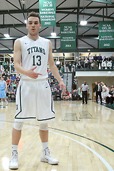 21 February 2015:  Bryce Dolan during an NCAA men's division 3 CCIW basketball game between the Elmhurst Bluejays and the Illinois Wesleyan Titans in Shirk Center, Bloomington IL
