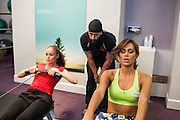 Miss Lithuania and Miss Venezuela<br /> Each contestants goes through gruelling fitness tests to see who makes it through to the sports finals