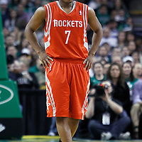 06 March 2012: Houston Rockets point guard Kyle Lowry (7) is seen during the Boston Celtics 97-92 (OT) victory over the Houston Rockets at the TD Garden, Boston, Massachusetts, USA.
