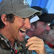Climber and guide Dave Hahn laughs at Basecamp on Mount Everest.