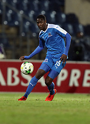Evans Rusike of Maritzburg Utd during the 2016 Premier Soccer League match between Maritzburg Utd and Polokwane City held at the Harry Gwala Stadium in Pietermaritzburg, South Africa on the 27th September 2016<br /> <br /> Photo by:   Steve Haag / Real Time Images