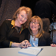 Journalist and author Krista Tippett during a backstage book signing after speaking at a Writers on a New England Stage show at The Music Hall in Portsmouth, NH