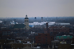 08 February 2017:   Aerial view of Chicago south and west of the Hyatt at McCormick Place