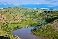 Mongolie, Province de Arkhangai, Vallee de l'Orkhon, gorge de la riviere de l'Orkhon // Mongolia, Arkhangai province, Orkhon river gorge