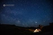 Camping at Burning Coal Vein on the Maah Daah Hey Trail in the Little Missouri National Grasslands, North Dakota, USA MR