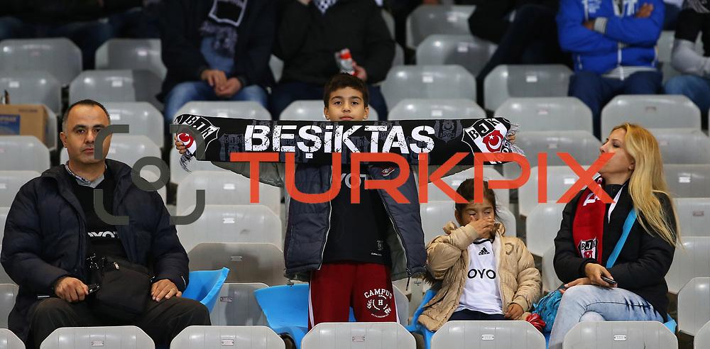 Besiktas's Supporters during their Turkish superleague soccer match Besiktas between Eskisehirspor at Ataturk Olimpiyat Stadium in Istanbul Turkey on Saturday 27 September 2014. Photo by Kurtulus YILMAZ/TURKPIX