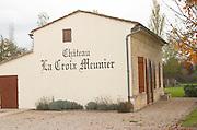 Winery building. Chateau La Croix Meunier. Saint Emilion, Bordeaux, France