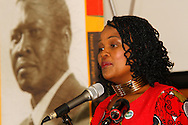 DURBAN - South Africa's public protector, Advocate Busisiwe Mkhwebane speaks on whether the country's constitution is an obstacle or catalyst for nation building at the annual CHief Albert Luthuli Memorial Lecture at the University of KwaZulu-Natal in Durban. Picture: Allied Picture Press/APP