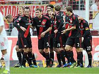 0:1 Jubel v.l. Lars Bender, Stefan Kiessling, Renato Augusto, Stefan Reinartz, Vedran Corluka, Michal Kadlec, Andre Schuerrle, Daniel Schwaab, Gonzalo Castro (Leverkusen)<br /> Bundesliga, 1. FC Köln - Bayer 04 Leverkusen<br /> <br /> norway only