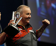 Phil Taylor during the PDC World Darts Championship Final at Alexandra Palace, London, United Kingdom on 1 January 2018. Photo by Chris Sargeant.