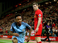 James Milner of Liverpool stares at a dejected Raheem Sterling of Manchester City - Mandatory by-line: Matt McNulty/JMP - 31/12/2016 - FOOTBALL - Anfield - Liverpool, England - Liverpool v Manchester City - Premier League